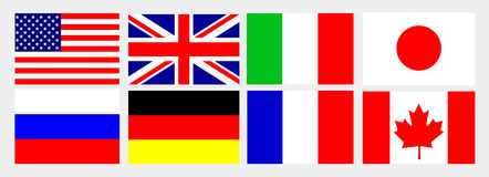 G8 national flag Stock Photos