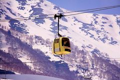 Gôndola amarela na Índia de Kashmir Fotografia de Stock Royalty Free