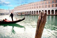 Gôndola com gondolier foto de stock royalty free