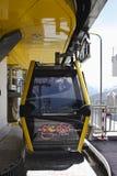 Gôndola do cabo aéreo em Latschenalm, Gerlos, Áustria fotografia de stock