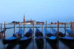 Gôndola e Chiesa di San Giorgio Maggiore, quadrado de San Marco mim Foto de Stock