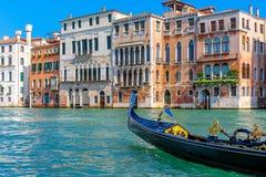 Gôndola italiana em Grand Canal Imagem de Stock