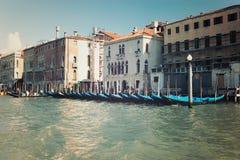 Gôndola venetian italia do vintage do venezia de Veneza Vêneto Imagens de Stock