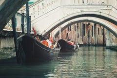 Gôndola venetian italia do vintage do venezia de Veneza Vêneto Imagem de Stock Royalty Free