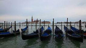 G?ndolas en Venecia metrajes