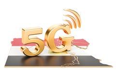 5G nel concetto dell'Egitto, rappresentazione 3D Immagini Stock