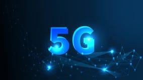 5G netwerk Draadloze Systemen en Internet Al Concept van het ApparatenCommunicatienetwerk Kunstmatige intelligentie en Machine vector illustratie