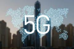 5g netwerk mobiele gegevens stock illustratie
