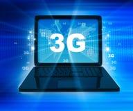 3G netwerk op laptop Stock Illustratie
