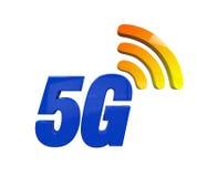 5G netwerkpictogram Stock Illustratie