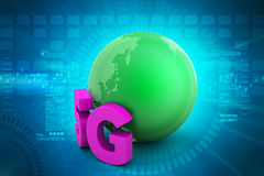 5G network connection. In color background royalty free illustration