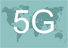 4g 5g network global Earth Communications networks map of the world Blue map global logistics connections. Wireless network speed vector illustration