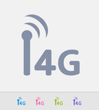 4G Network - Granite Icons. A professional, pixel-perfect icon designed on a 32x32 pixel grid and redesigned on a 16x16 pixel grid for very small sizes stock illustration
