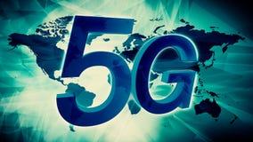5G network illustration world map background stock illustration