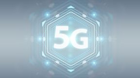 5G network interface 3D rendering. 5G network interface isolated on grey background 3D rendering Stock Images
