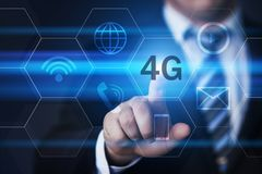 4G Network Internet Mobile Wireless Business concept.  Royalty Free Stock Photography