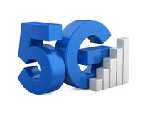 5G Network Sign Isolated. On white background. 3D render Royalty Free Stock Photography