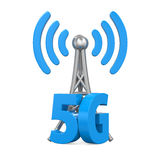5G Network Sign Isolated. On white background. 3D render Stock Image