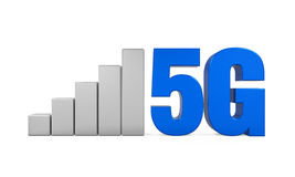 5G Network Sign Isolated. On white background. 3D render Stock Photo