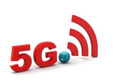 5g with network sign Stock Photo
