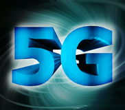 5G network symbol. Abstract of 5G network symbol Royalty Free Stock Image