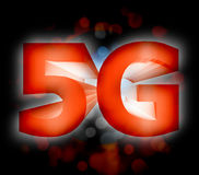 5G network symbol. Abstract of 5G network symbol Royalty Free Stock Photo