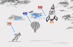 5g network tehnology concept stock photo