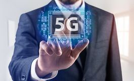 5G network wireless systems concept Stock Images