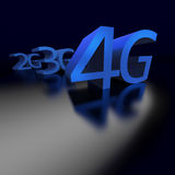 4G technology replacing 3G and previous networking. 4G networks replaces 3G and previous technology in connecting mobile devices perspective on black background vector illustration