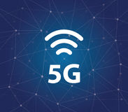 5g - a new ultrafast networks with Millimeter waves, massive MIMO, full duplex, beamforming, and small cells Stock Photography