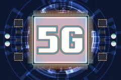 5G nowy bezprzewodowy połączenie z internetem obraz stock