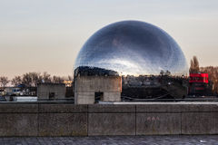 Gèode, spherical building in Paris Royalty Free Stock Photography