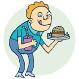 Głodny royalty ilustracja