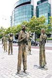 Głodu pomnik, Dublin, Irlandia Zdjęcie Royalty Free