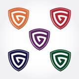 G osłony logo G projekta szablon Wektor i ilustracja royalty ilustracja