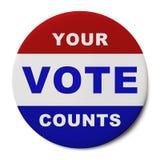 Głosowanie Fotografia Royalty Free