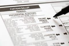 Głosowanie Dla Donald atutu w wybór prezydenci Obraz Stock