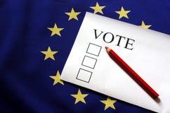 Głosowanie dla Europa Obraz Stock