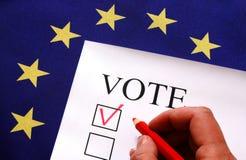 Głosowanie dla Europa Fotografia Royalty Free