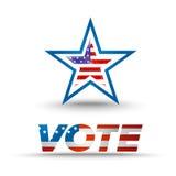 Głosowanie odznaka dla wybory Obraz Stock