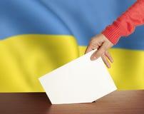 Głosowanie Ukraina Obraz Royalty Free