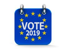 G?osowanie wybory ikony 2019 kalendarz ilustracja wektor