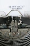 gör engelska talar dig Arkivfoton