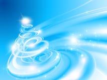 göra sammandrag den spiral treen för jul Arkivfoto