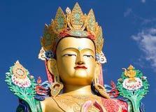 Głowa Buddha statua w Nubra dolinie Zdjęcie Royalty Free