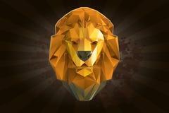 Głowa lew od trójboków Obraz Stock