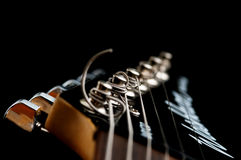 głowa na gitarze Fotografia Royalty Free