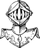 Głowa rycerz w opancerzeniu Fotografia Stock