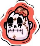 głowa zombie royalty ilustracja