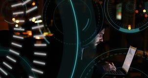 5G pisać po środku futurystyczni okręgi 4k i hacker royalty ilustracja